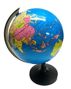 21cm blue ocean world globe map w swivel stand geography table image is loading 21cm blue ocean world globe map w swivel gumiabroncs Images
