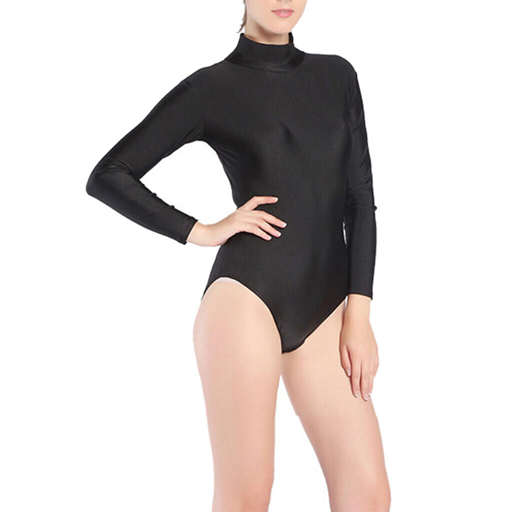 unisex einteilige badeanzüge zip zurück rashguard langarm badeanzüge m