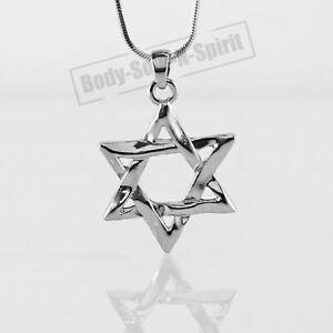 DAVIDSTERN-Halskette-Israel-Amulett-Anhanger-Talisman-Judaika-Judisch