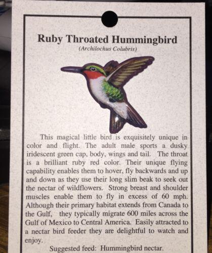NEW RUBY THROATED HUMMINGBIRD  HAT PIN LAPEL PINS BIRD