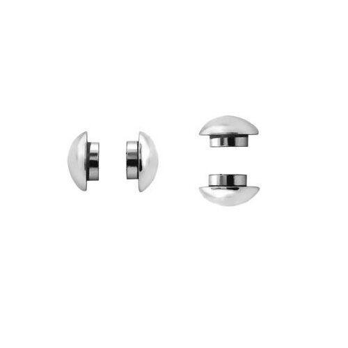 Ball Half Dome Silver Tone Steel Men Unisex Magnetic Stud Earrings No Piercing