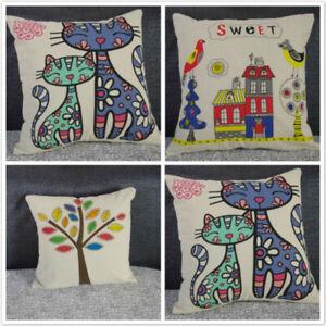 Funny-Animals-Cushion-Cover-Sofa-Throw-Pillow-Case-Home-Sofa-Car-Decor-LH