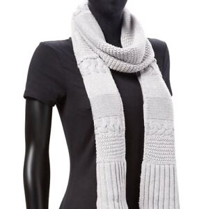 Ugg Scarf Cable Knit Rectangular Colors NEW $95
