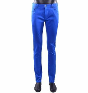 MOSCHINO-COUTURE-Slim-Fit-Pantaloni-in-stile-jeans-blu-pants-trousers-Blue-05420