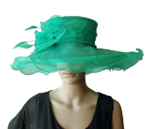 in Elegante sposa cappello nuovo da da da donna cappello organza verde  organza cappello in sposa q7waqz8rx a66b5f566fde