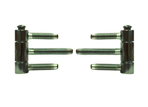 92 Nr 2 Stk Herkula Türbänder mit Bolzen für Haustüren Chromatiert 20 mm