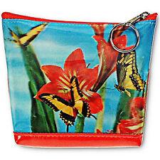 Monarch Butterflies 3D Lenticular Universal Purse Bag  Red Flowers #I-001-PAVIA#
