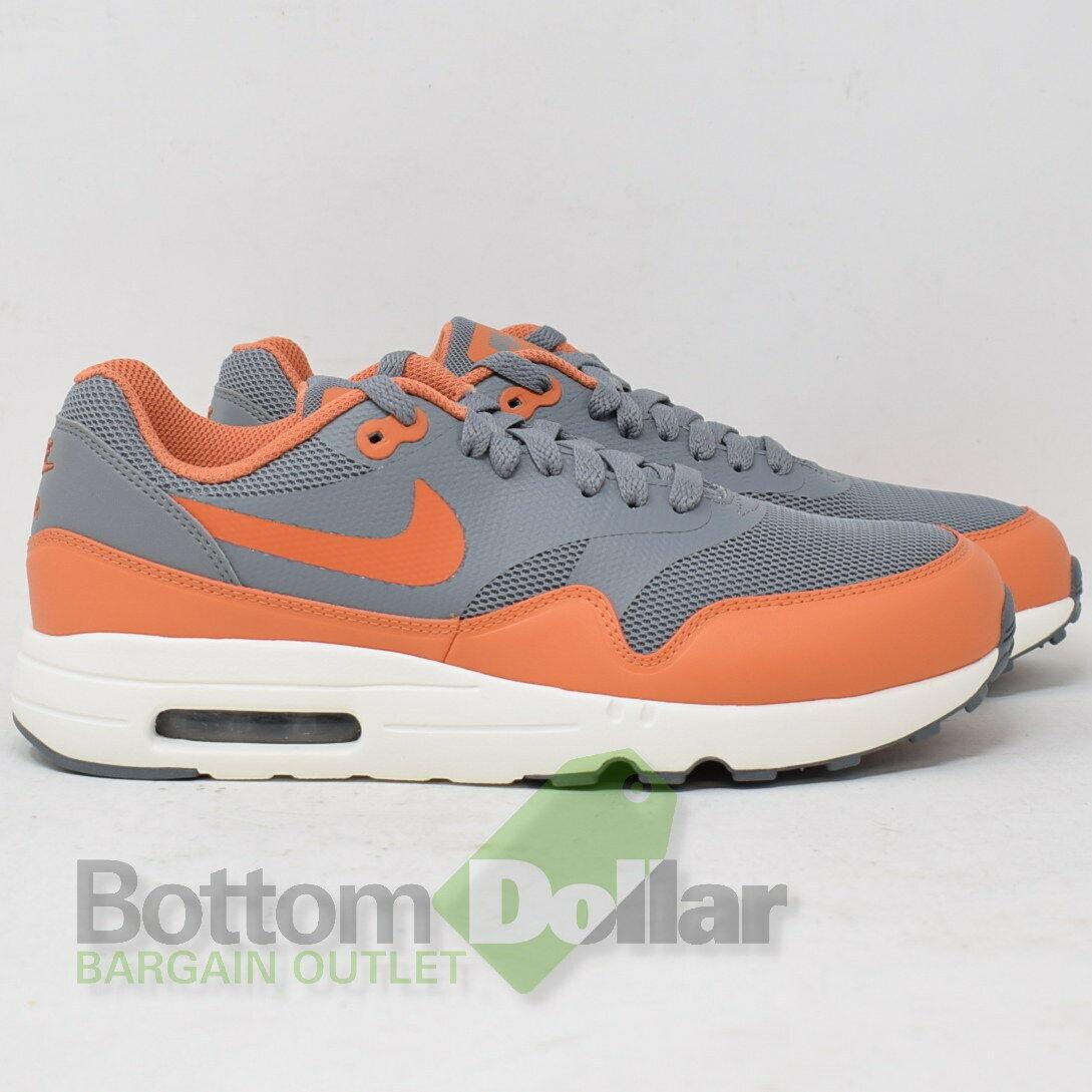 3d0de5a273d1e Nike Men s Air Max 1 Ultra 2.0 Essential Grey Grey Grey Terra orange shoes  875679-