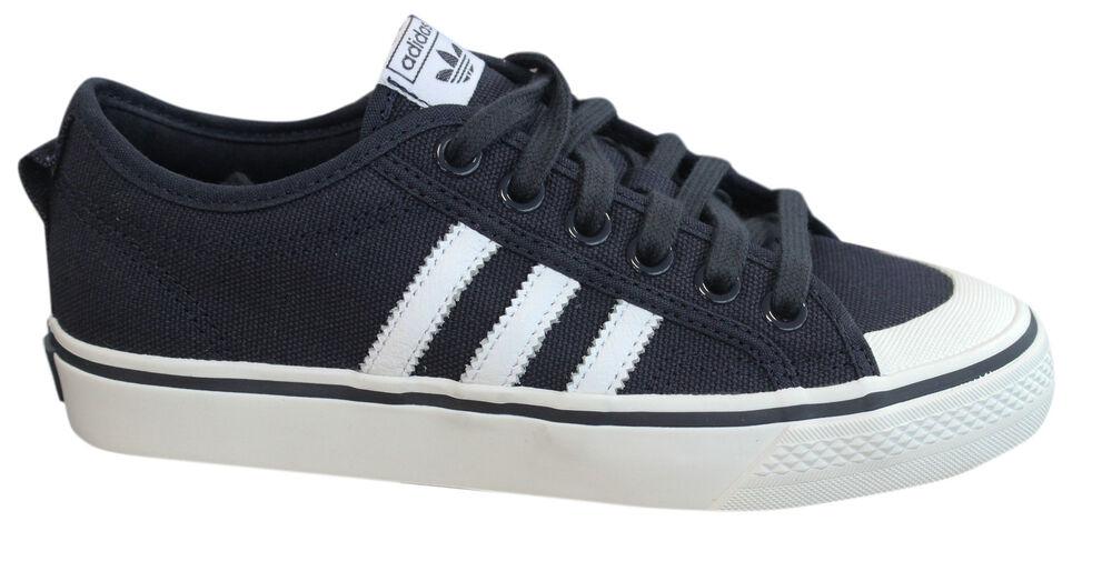 Adidas Originals Agréable Baskets Hommes Bas Chaussures à Lacets Bleu Marine