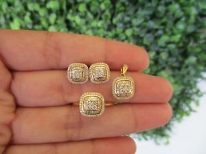 1-04-Carat-Diamond-Yellow-Gold-Earrings-Ring-amp-Pendant-Set-18k-S-SET-006-sep