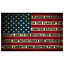 thumbnail 1 - American Pledge of Allegiance Flag Sticker 5x3 Inch United States Retro Decal