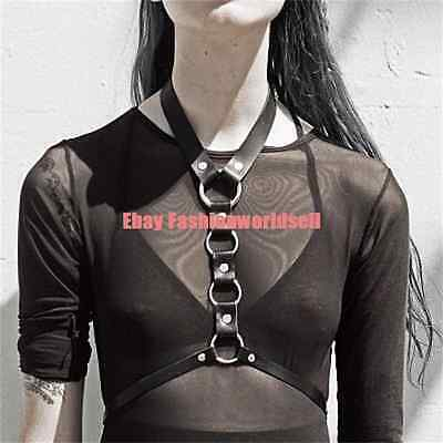 Basic Street Handcrafted Leather Harness Halter Choker Body Bondage Straps Belt