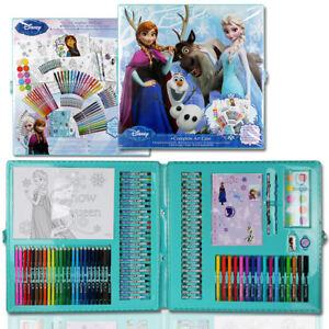 NEU-XXL-Disney-Frozen-Eiskoenigin-Malset-Malkoffer-Stifte-Set-Kinder-Malen-Farben