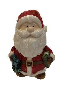 Adorable-Vintage-Resin-Christmas-Santa-Clause-Bobble-Head-Figurine