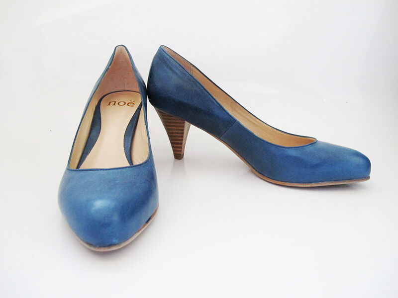 Noe Medium Mid Heel Women Leather Pump Court shoes