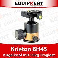 KRIETON BH45 3D Fotokugelkopf f. DSLR / Slider / Dolly / Stativ (bis 15kg) EQG90