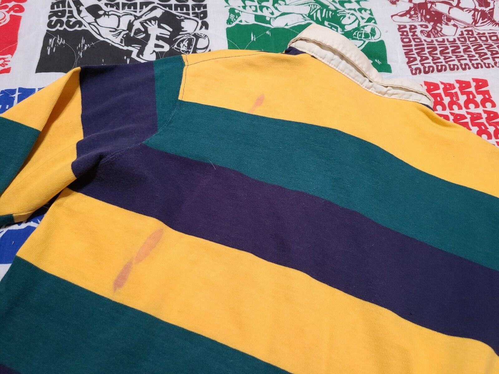 2 Vintage 80s Ralph Lauren Rugby Polo Striped Cot… - image 10