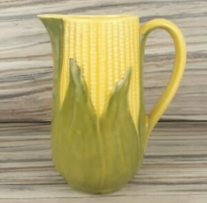Vintage Shawnee Pottery Corn King Pitcher 8 1/4 71 Yellow Green Farmhouse