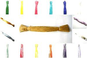 Raffia-Wraphia-Raphia-Ribbon-Yarn-For-Craft-Gift-Scrapbook-Bags-Hats-Skirts-DIY