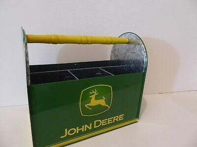 b 2007 NEW OLD STOCK JOHN DEERE TIN UTENSIL//SEWING CADDY-GREAT COLLECTIBLE ITEM