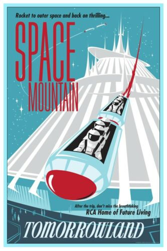 TOMORROWLAND SPACE MOUNTAIN ASTRONAUTS COLLECTOR POSTER 4 SIZES B2G1 FREE!!