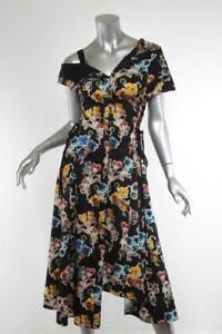 lace multi asymmetrische Wu jurk 6 up color zwarte Womens Jason bloemenprint nieuw Nn8m0wv