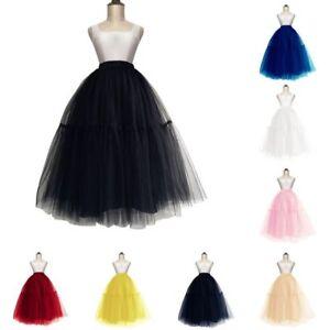 Layers-Women-Midi-Tulle-Tutu-Skirt-Petticoat-Wedding-Bridal-Dress-Prom-Ball-Gown