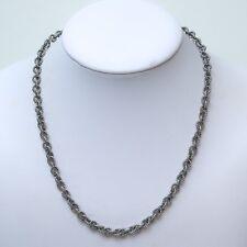 "New DAVID YURMAN Cable Rolo Chain Toggle Necklace Silver 18"" NWT"