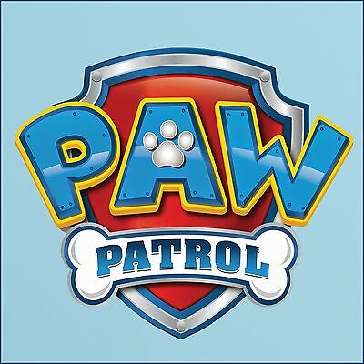 Paw Patrol Themed Bedroom Logo Colour cut vinyl wall ...