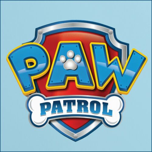 Full Colour Paw Patrol Logo cut vinyl wall sticker 5 sizes A4 - 95cm wide