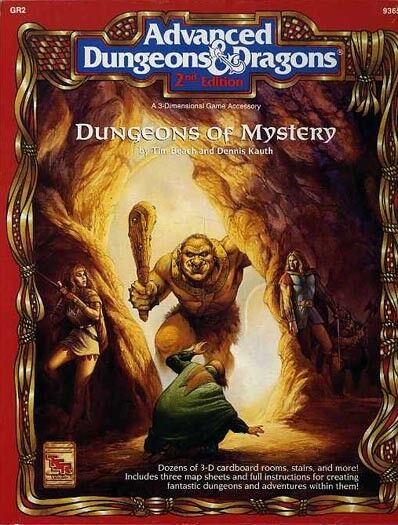 Calabozos de misterio casi como nuevo  9365 sin cortar D&D en Caja Set TSR Dungeons dragons caja Módulo