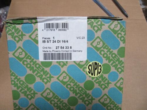 Sealed Phoenix IB ST 24 DI 16//4 Interbus ST Digital Input With 16 Channels NEW!