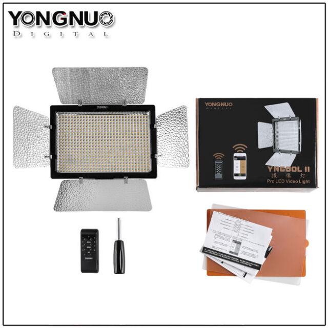 Yongnuo YN-600L II  5500K LED Video Light 2.4G Wireless Remote Control Bluetooth