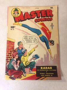 MASTER-COMICS-58-CAPTAIN-MARVEL-JR-RADAR-NYOKA-BULLETMAN-1945-VOLCANO-TERROR