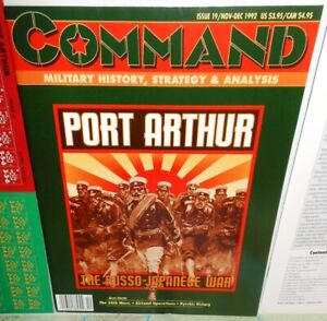 BOARD-WAR-GAME-Mag-Command-19-Port-Arthur-The-Russo-Japanese-War-op-1992-UNP