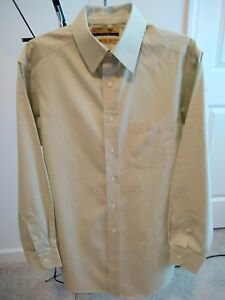 Roundtree-amp-Yorke-Gold-Label-Fitted-80-039-s-Non-Iron-Pinpoint-Shirt-Men-039-s-15-33