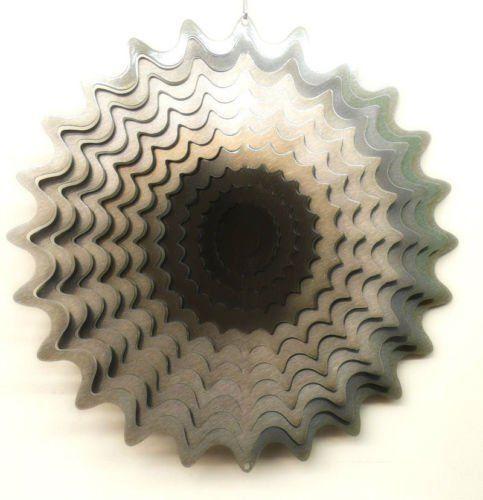 ACCIAIO Inossidabile Vento Spinner Twister forma d/'onda