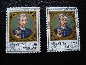 Vatican-Stamp-Yvert-and-Tellier-N-1051-x2-Obl-A28-Stamp-A