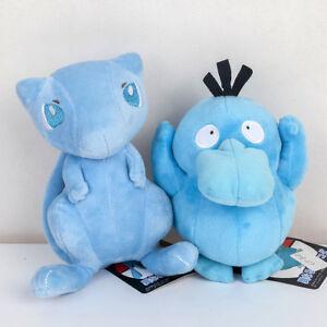2X-Pokemon-Shiny-Mew-amp-Psyduck-Stuffed-Animal-Soft-Doll-Kids-Toy