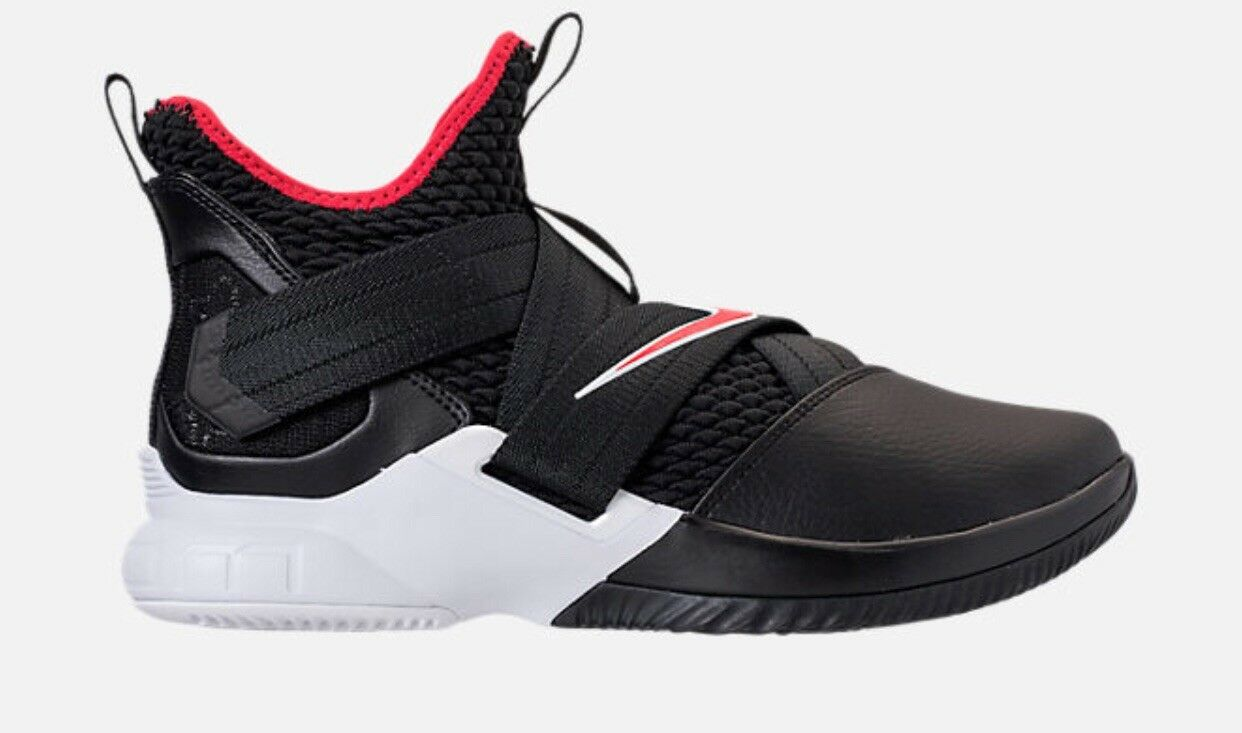 a62d5dc5fe Nike Lebron Soldier 12 Bred Mens AO2609-001 Black Red Basketball shoes Size  10
