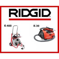 Ridgid Auto Clean K 30 Sink Machine 55808 Amp Ridgid K 400 Drum Machine 52363