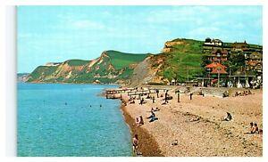 Postcard-THE-BEACH-amp-WEST-CLIFF-WEST-BAY-Ref-D13