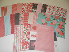 VALENTINE SCRAPBOOK PAPER CARD MAKING LOT 6X6 LOVE