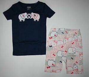 NEW Gymboree Elephant Sweethearts Gymmies Shorts PJs Size 3 5 6 Summer Shortie