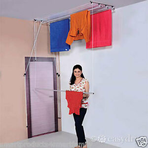 EasyDry  CEILING  MOUNTED PULLEY SYSTEM CLOTH DRYER 7 Ft with 4 lines