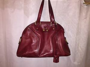 ysl inspired bag - Pre Owned Authentic YSL Yves Saint Laurent Large Oxblood Red Muse ...