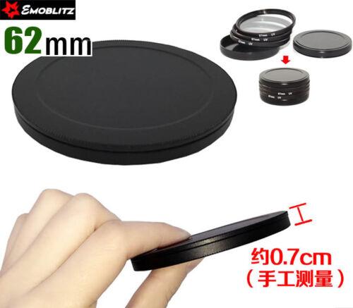 62 Mm Tornillo-En Metal Conjunto De Tapa De Pila De Filtro Filtro caso calidad proteger Filtro 2x