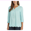 Sale-Gloria-Vanderbilt-Women-039-s-Ladies-039-Woven-Blouse-Roll-Sleeves-S-M-L-XL-XXL thumbnail 4