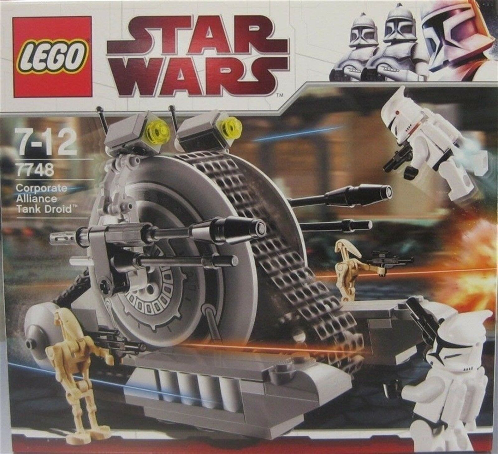 LEGO STAR WARS  7748 CORPORATE ALLIANCE TANK DROID DATED 2009 NRFB