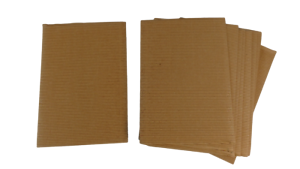pack of 15-29.7cm x 21cm Arts and Crafts Corrugated Card A4 Natural colour